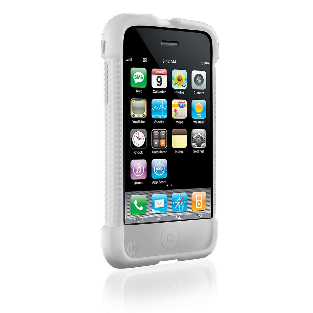 philips clear silicone case for iphone 3g 3gs new ebay. Black Bedroom Furniture Sets. Home Design Ideas