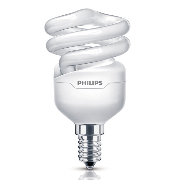 Philips Tornado 8W=45W E14 CFL Spiral Energy Saver Light ...