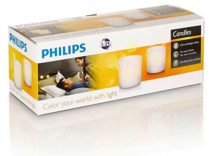 Philips Rechargeable Flickering Flameless White Led Tea